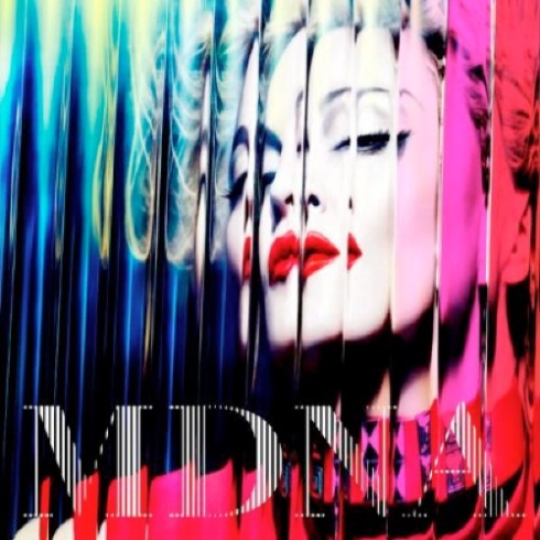 The album artwork for MDNA.